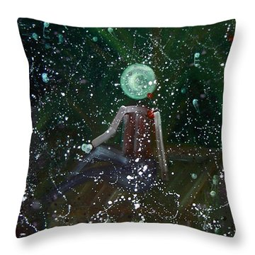 Throw Pillow featuring the painting Scent by Min Zou