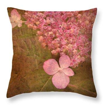 Scent Of Hydrangea Throw Pillow by Kathi Mirto