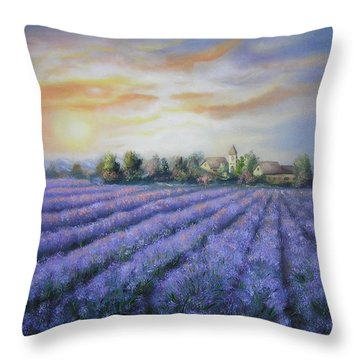 Scented Field Throw Pillow