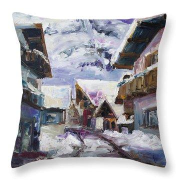 Schattberg Austrian Alps Throw Pillow by Barbara Pommerenke