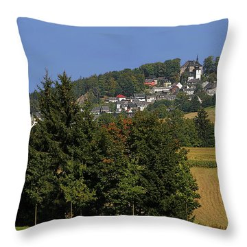 Schauenstein - A Typical Upper-franconian Town Throw Pillow by Christine Till