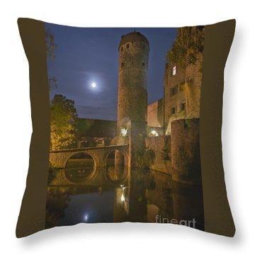 Schloss Sommersdorf By Moonlight Throw Pillow by Alan Toepfer
