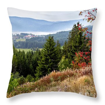 Schluchsee In The Black Forest Throw Pillow