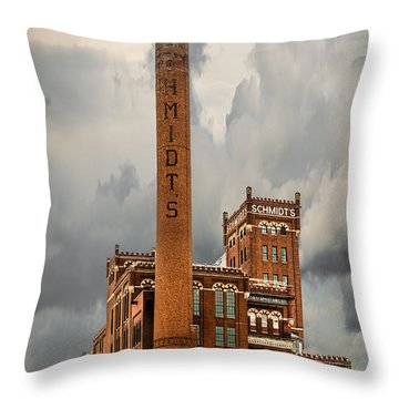 Schmidt Brewery Throw Pillow