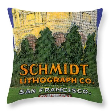 Schmidt Lithograph  Throw Pillow