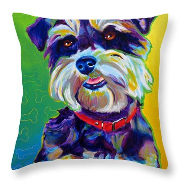 Schnauzer - Charly Throw Pillow