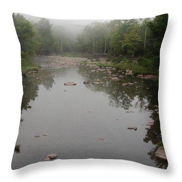 Schoharie Morning Fog Throw Pillow