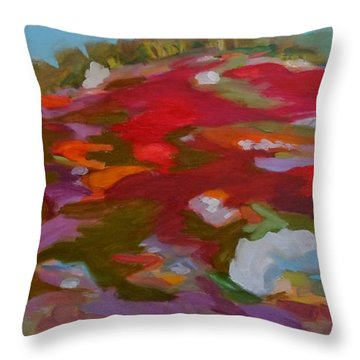 Schoodic Trail Blueberry Hill Throw Pillow