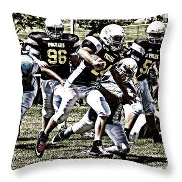 School Boy Right Throw Pillow by Bob Hislop