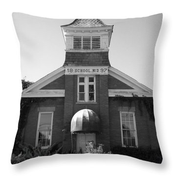 Throw Pillow featuring the photograph School House by Michael Krek
