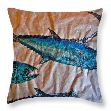 School Of Mackerel - Spanish Invasion Throw Pillow