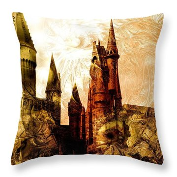 School Of Magic Throw Pillow