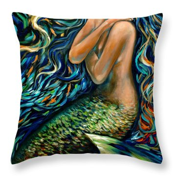School Of Minnows Throw Pillow by Linda Olsen