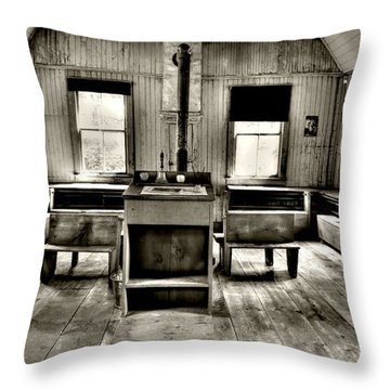 School Room Throw Pillow by Kathleen Struckle