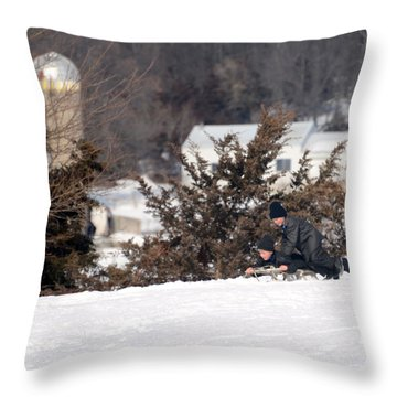 Throw Pillow featuring the photograph School's Out by Linda Mishler