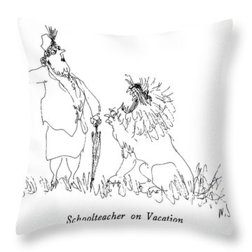 Schoolteacher On Vacation Throw Pillow