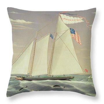 Schooner Lewis R Mackey Throw Pillow