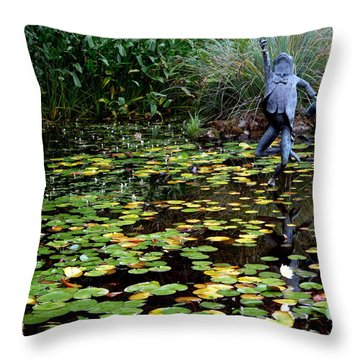 Schramsberg Winery Pond Throw Pillow