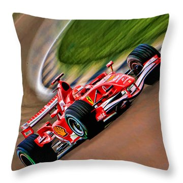 Schumacher Bend Throw Pillow by Blake Richards