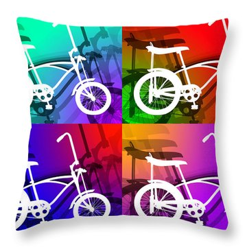 Throw Pillow featuring the digital art Schwinn Sting-ray by Stephen Younts