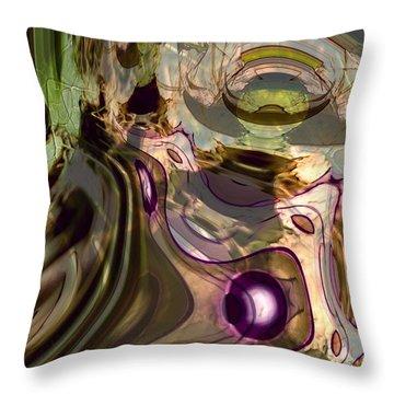 Throw Pillow featuring the digital art Sci-fi Fury by Richard Thomas