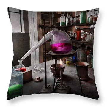 Science - Chemist - Chemistry For Medicine  Throw Pillow by Mike Savad