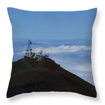Science City Haleakala Throw Pillow by Sharon Mau