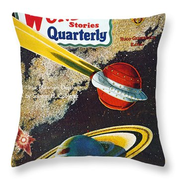 Science Fiction Cover, 1931 Throw Pillow by Granger