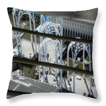 Science From The Top Throw Pillow by David Trotter