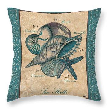 Scientific Drawing Throw Pillow by Debbie DeWitt