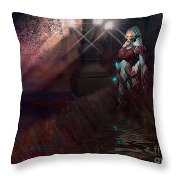 Scifi Rusit Throw Pillow