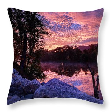 Scioto Sunrise Throw Pillow by Jaki Miller