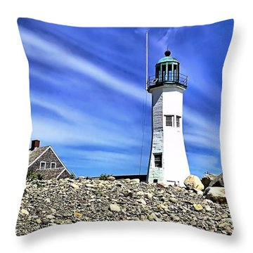 Scituate Lighthouse Throw Pillow