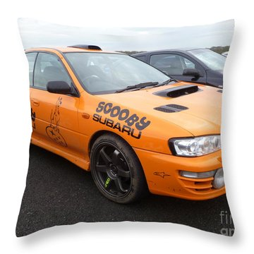Scooby Subaru Throw Pillow by Vicki Spindler