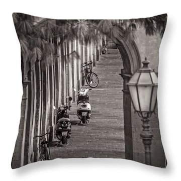 Scooters And Bikes Throw Pillow
