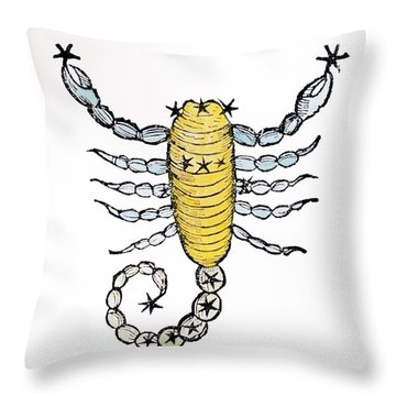 Scorpio An Illustration Throw Pillow by Italian School