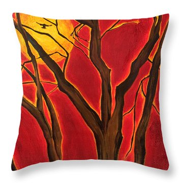 Scorpio Sun By Jaime Haney Throw Pillow