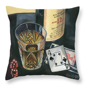 Scotch And Cigars 2 Throw Pillow