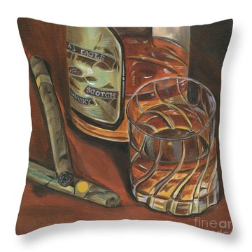 Scotch And Cigars 3 Throw Pillow