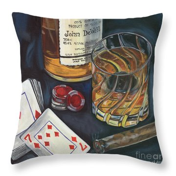Scotch And Cigars 4 Throw Pillow