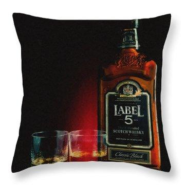 Scotch Whisky Digital Art Throw Pillows