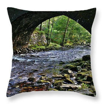 Scotland Bridge Throw Pillow