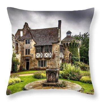 Scotney Castle 4 Throw Pillow