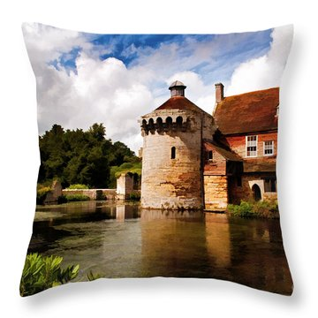 Scotney Castle Throw Pillow