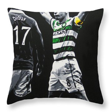 Scott Brown - Celtic Fc Throw Pillow