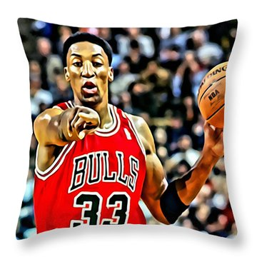 Scottie Pippen Throw Pillow