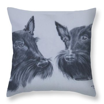 Scotties Throw Pillow