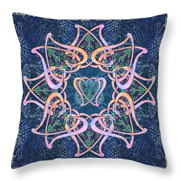 Scottish Blessing Celtic Hearts Duvet Throw Pillow by Michele Avanti