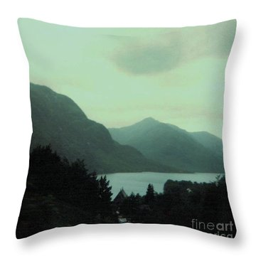 Scottish Mountains Over Loch Lomond Throw Pillow