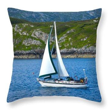 Scottish Sails Throw Pillow